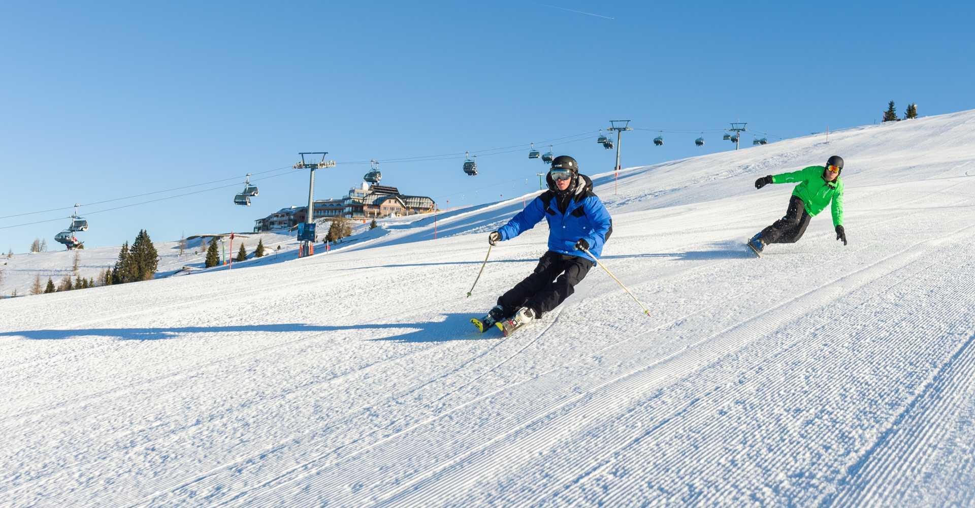 Die Gerlitzen Alpe im Winter.